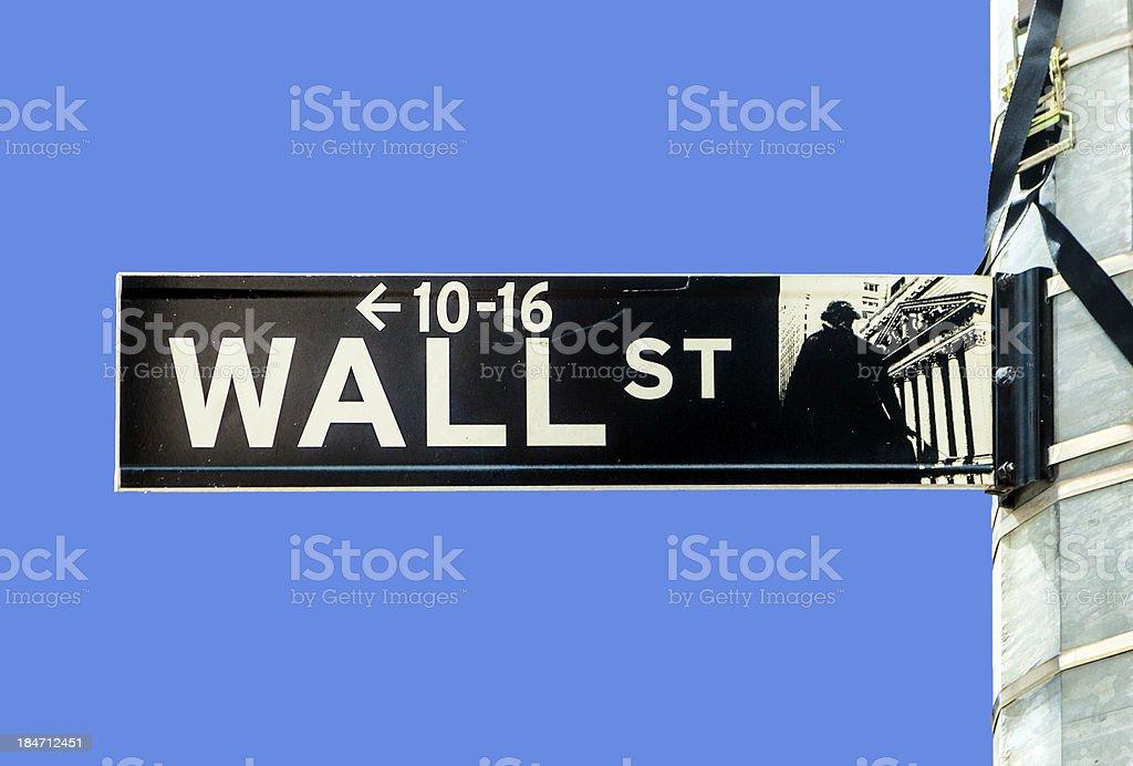 wall street streetsign in New York royalty-free stock photo
