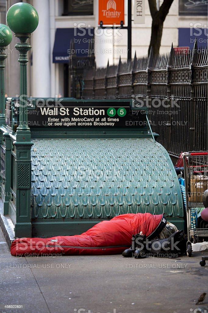 Wall Street Subway Station Lower Manhattan New York City royalty-free stock photo