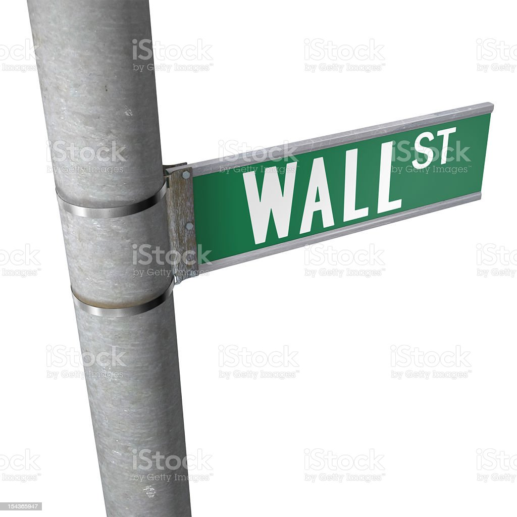 Wall Street To The Right royalty-free stock photo