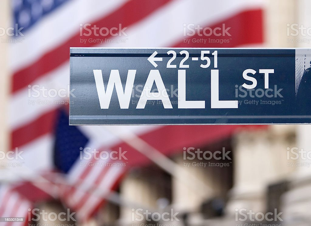 Wall Street-Street Sign royalty-free stock photo