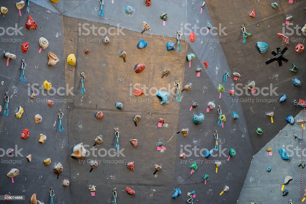 Wall surface of the bouldering stock photo