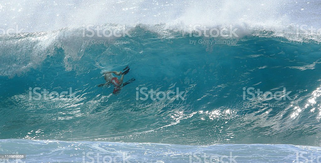 Wall Surfing stock photo