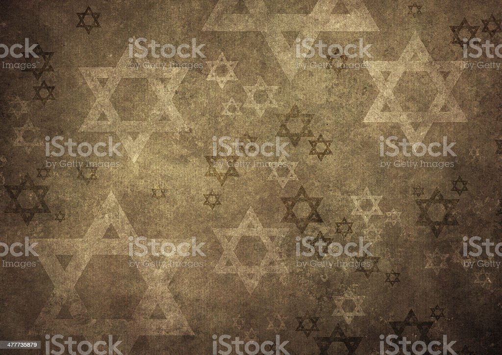 wall texture with david stars royalty-free stock photo