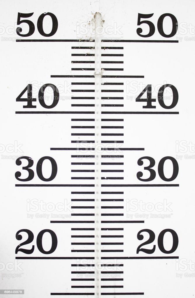 Wall Thermometer stock photo