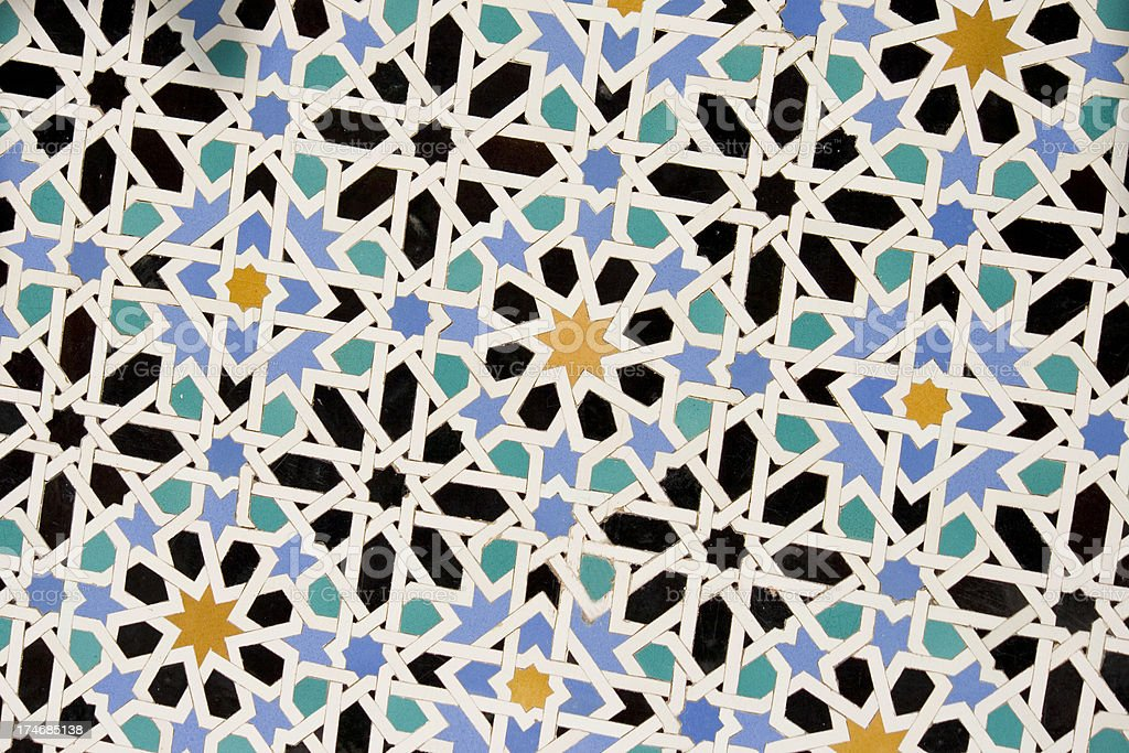 wall tile mosaic royalty-free stock photo