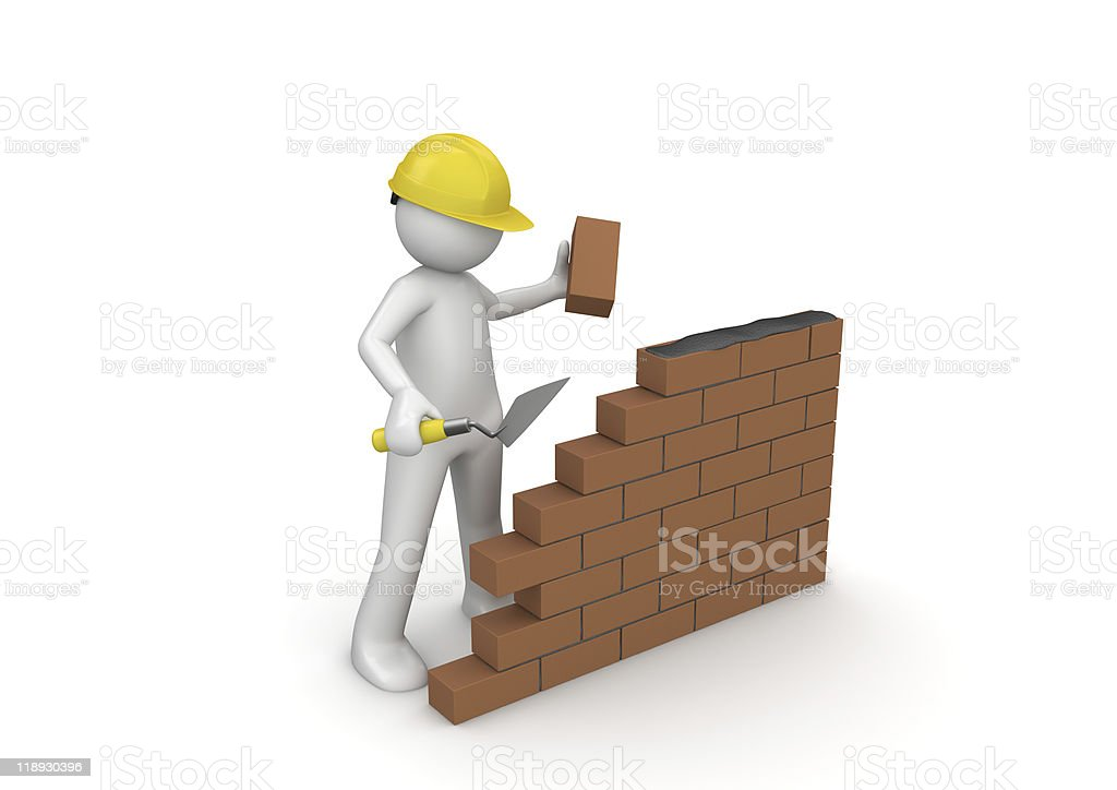 Wall under construction royalty-free stock photo