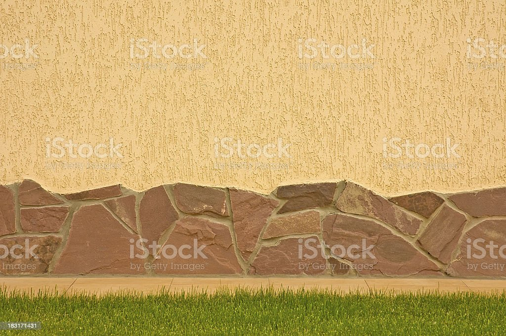 Wall with a stone border royalty-free stock photo