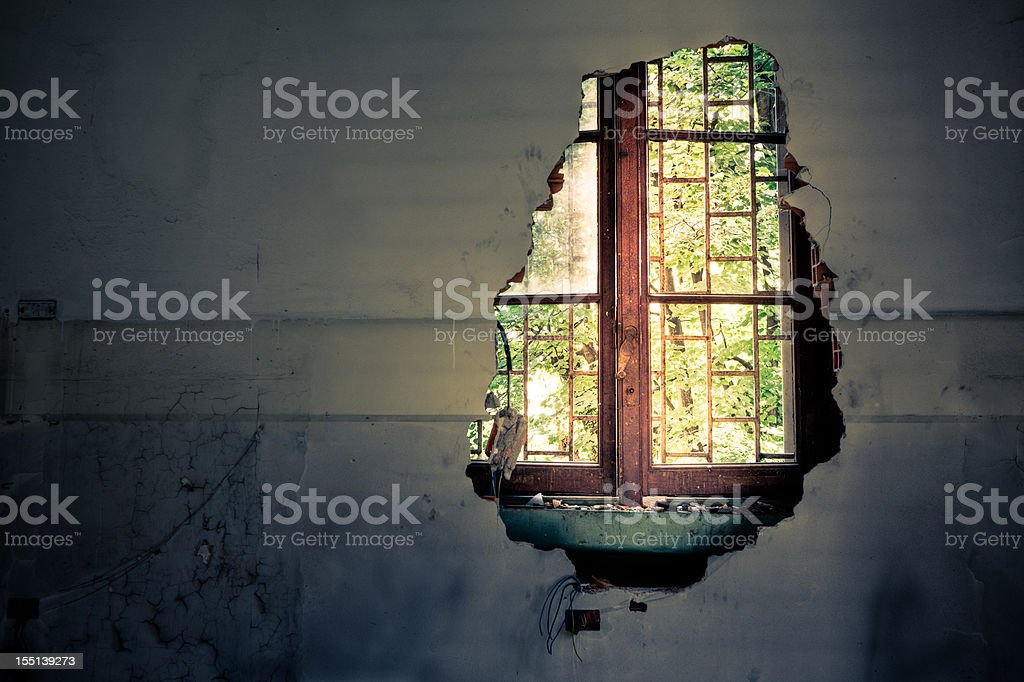 Wall with a view royalty-free stock photo