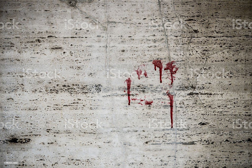 Wall with blood royalty-free stock photo