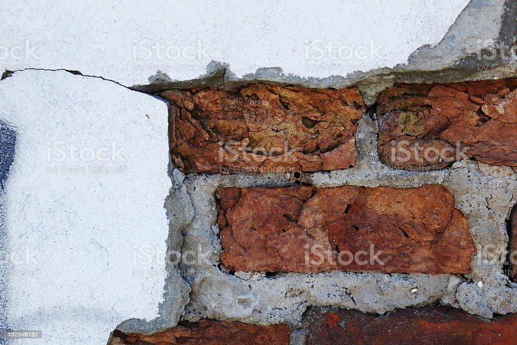 wall with bricks royalty-free stock photo