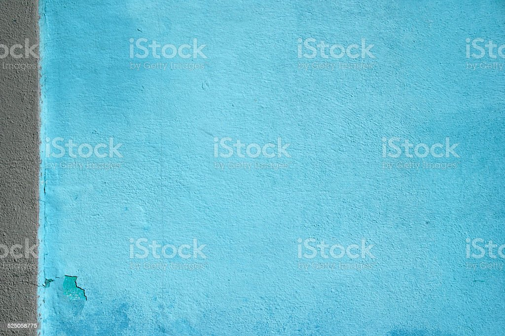 Wall with bright two colored paint pattern stock photo