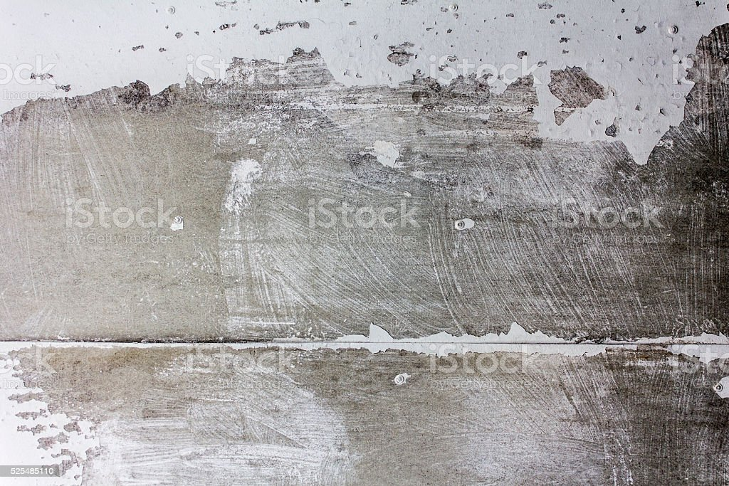 Wall with cracked paint texture. stock photo
