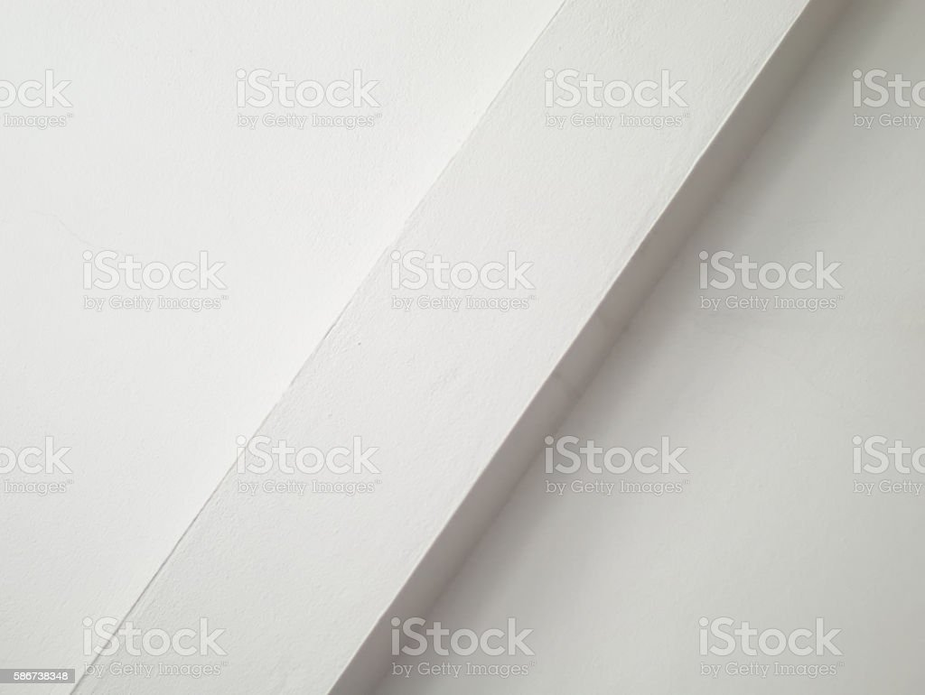 wall with diagonal ledge stock photo