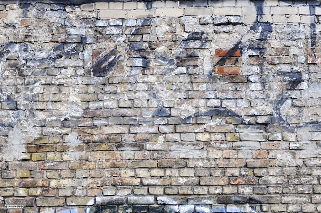 Wall with graffiti stock photo