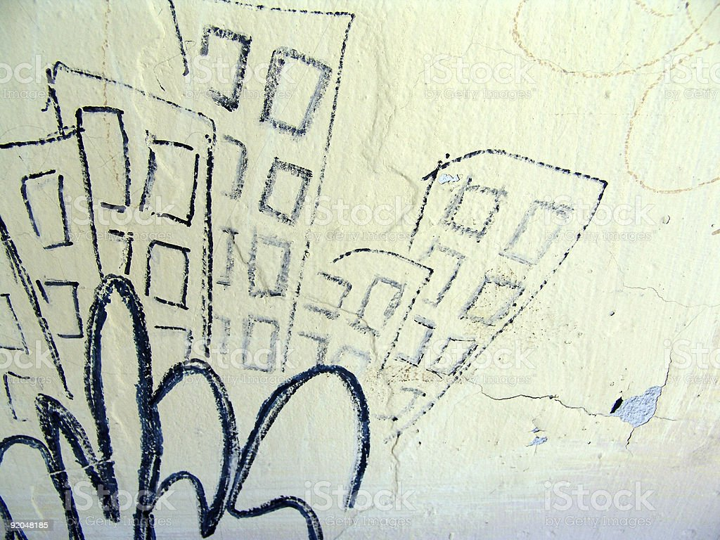 wall with graffiti royalty-free stock photo