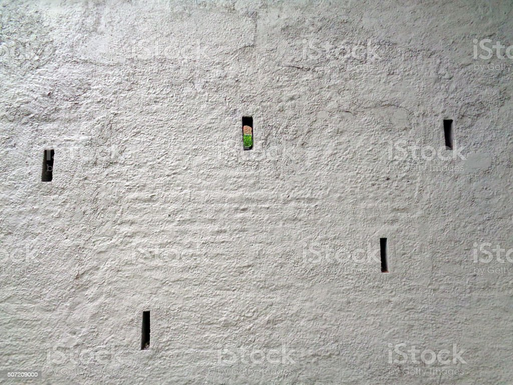 Wall with Holes stock photo