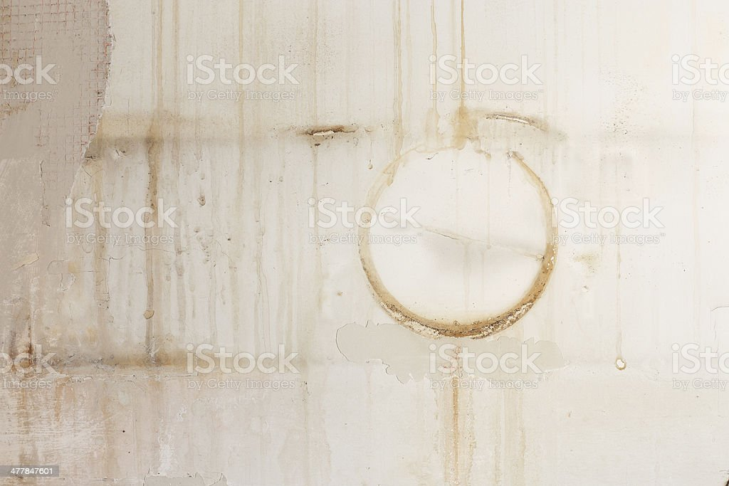 Wall with stains and mold royalty-free stock photo