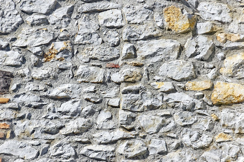 wall with textured bricks royalty-free stock photo