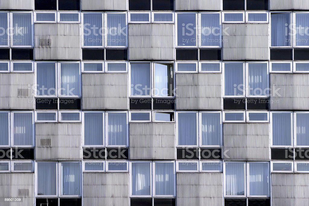 Wall with the windows royalty-free stock photo