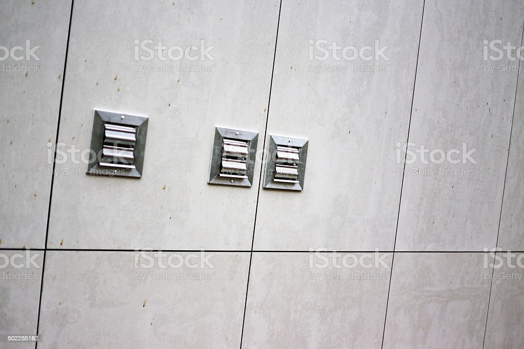wall with ventilator royalty-free stock photo