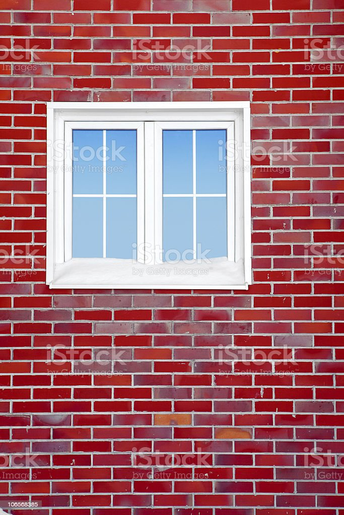 wall with window royalty-free stock photo