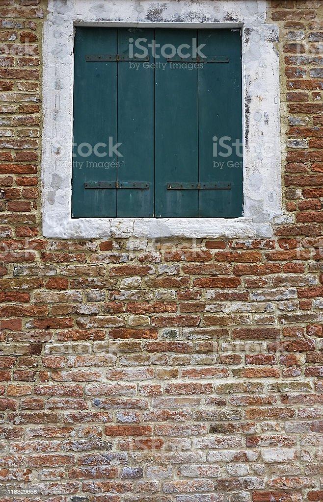wall with window stock photo