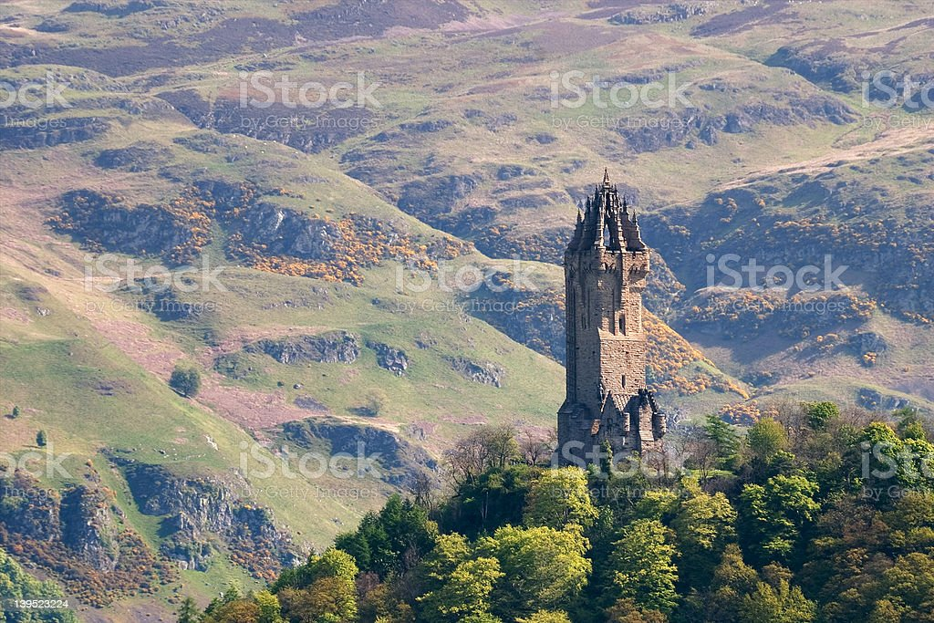 Wallace Monument, Stirling stock photo