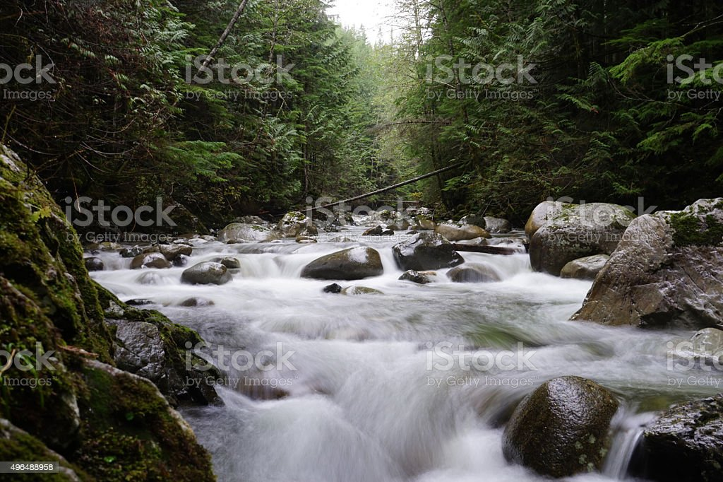 Wallace river stock photo