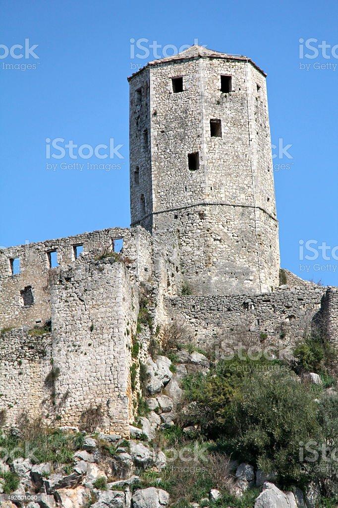 Walled City of Pocitelj stock photo