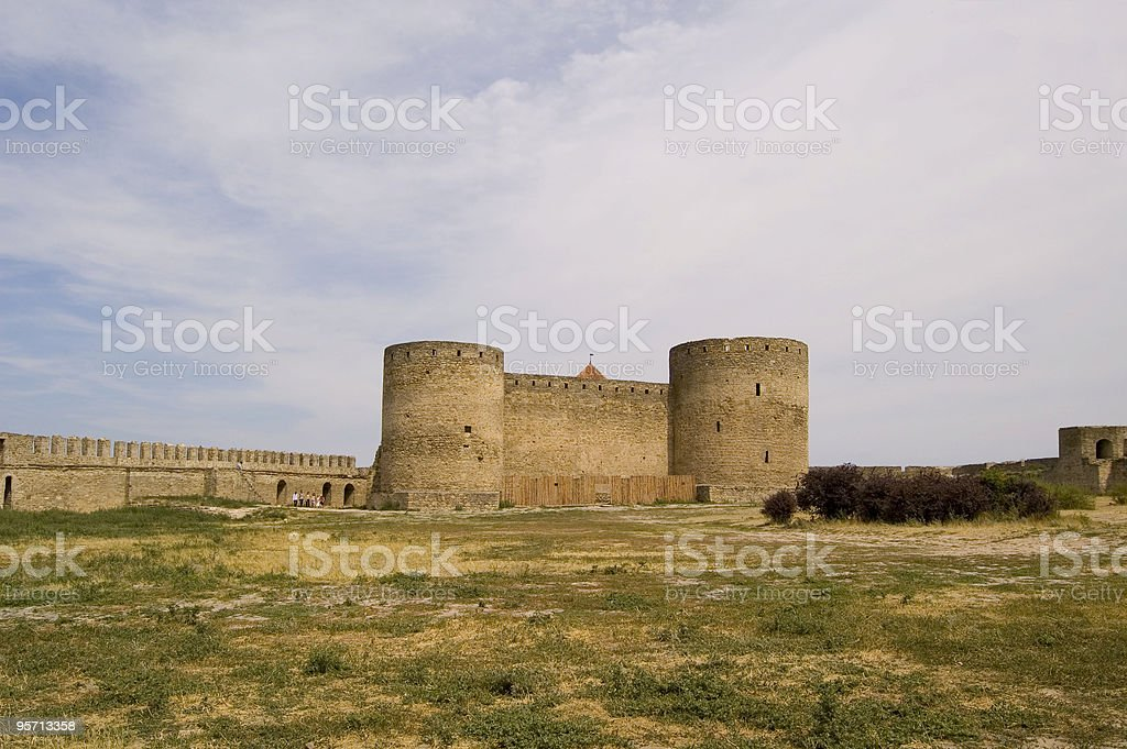 walled town stock photo