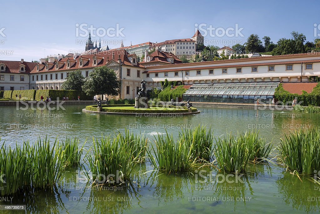 Wallenstein Gardens and Palace in Prague, Czech Republic stock photo