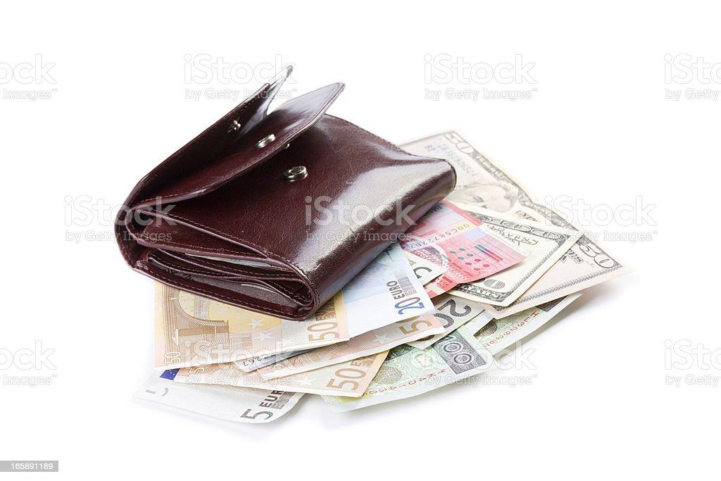 wallet & cash stock photo
