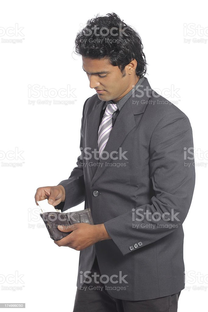 wallet and business royalty-free stock photo