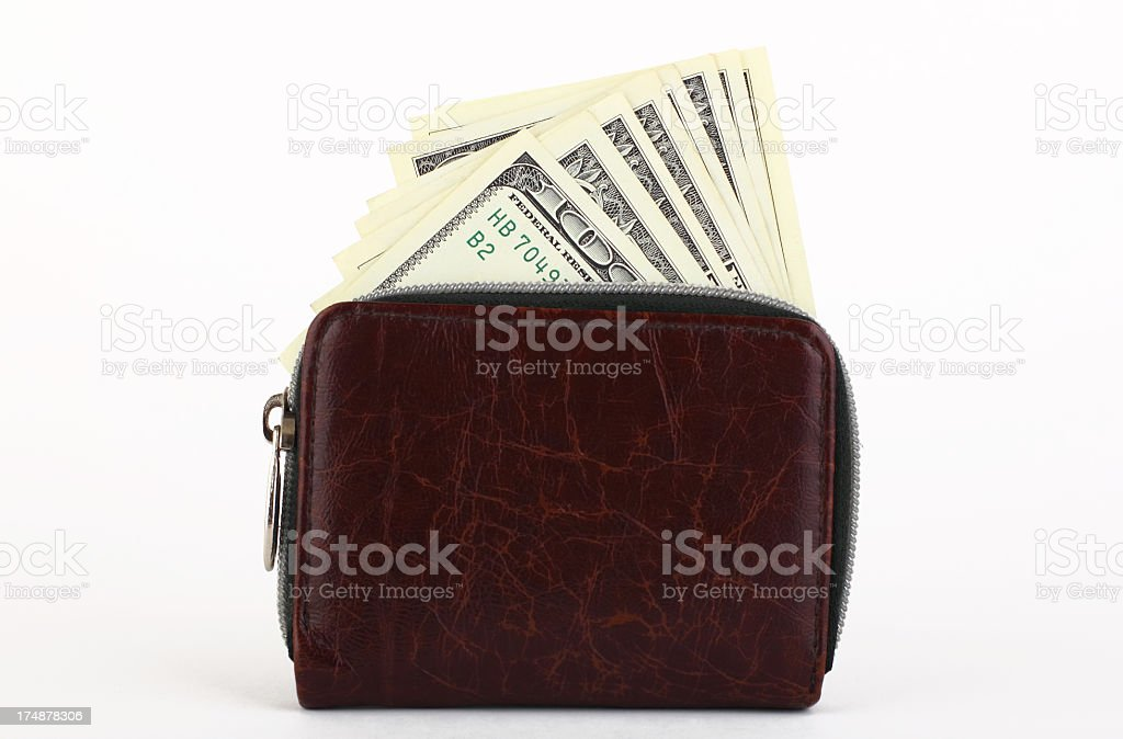 Wallet and moneys royalty-free stock photo
