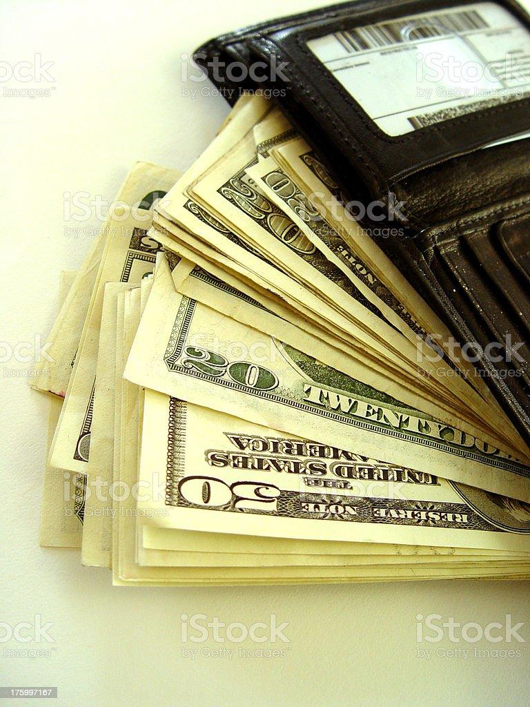 Wallet full o' money! stock photo
