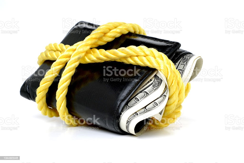 Wallet Full of Cash royalty-free stock photo