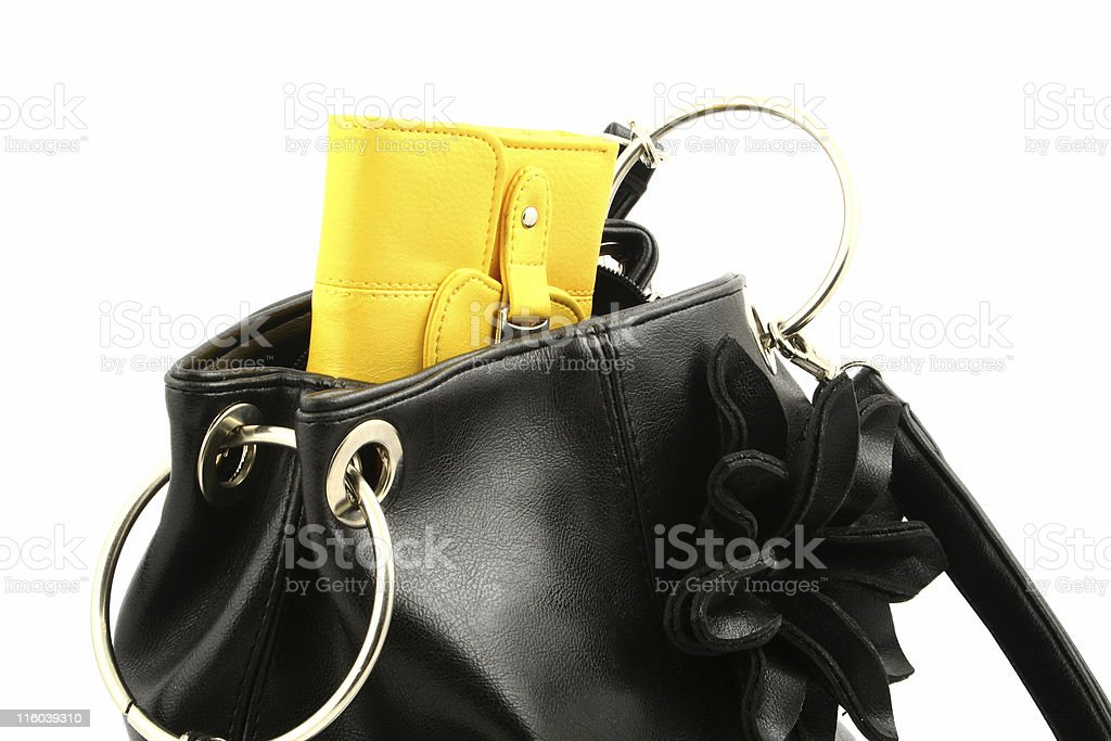 wallet in a bag royalty-free stock photo