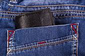 wallet in a pocket jeans