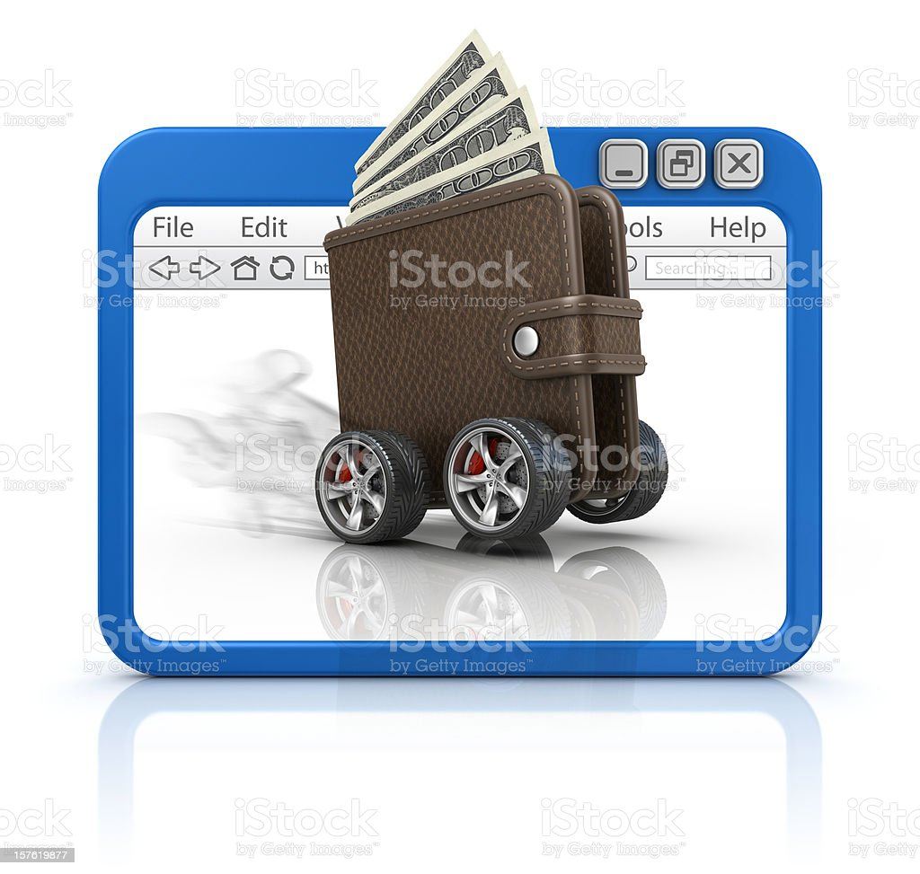 wallet in browser royalty-free stock vector art