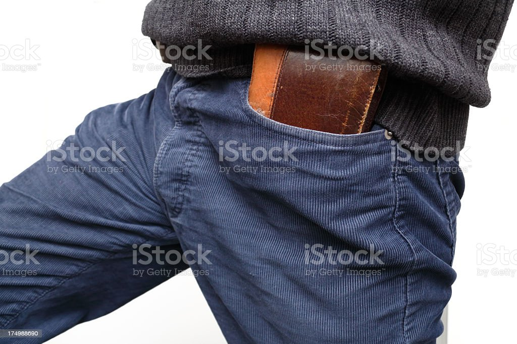 wallet in pocket royalty-free stock photo
