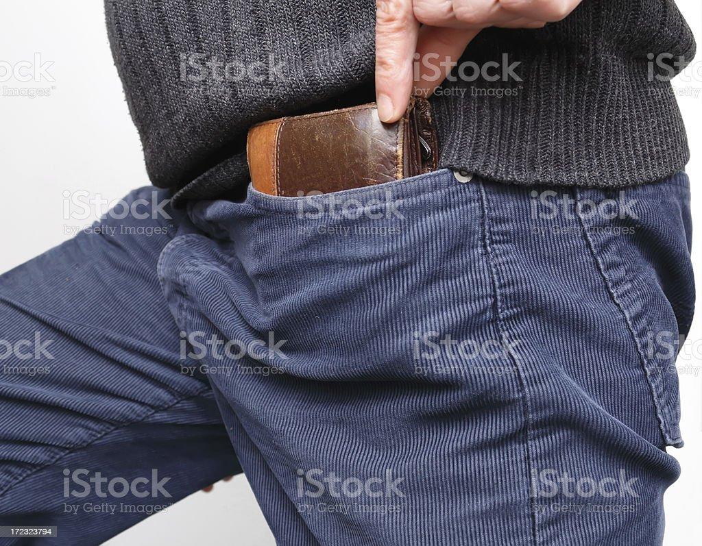 wallet pickpocket royalty-free stock photo