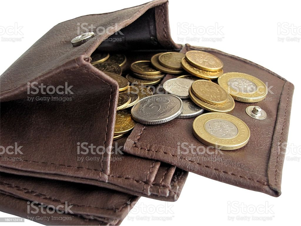 wallet with cash royalty-free stock photo
