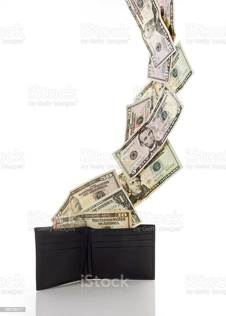 wallet with dollars royalty-free stock photo