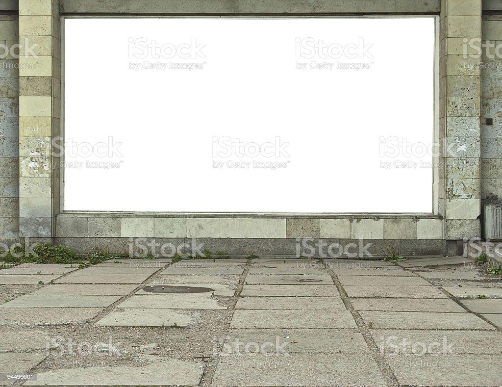 Wall-mounted billboard royalty-free stock photo