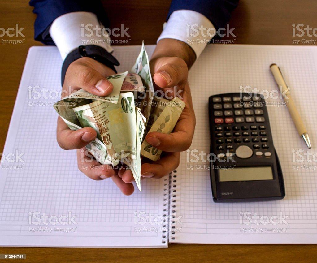 wallow in money stock photo