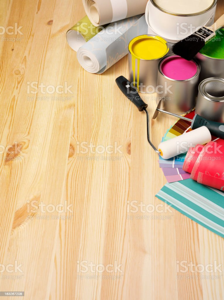 Wallpaper and Paints for Industry royalty-free stock photo