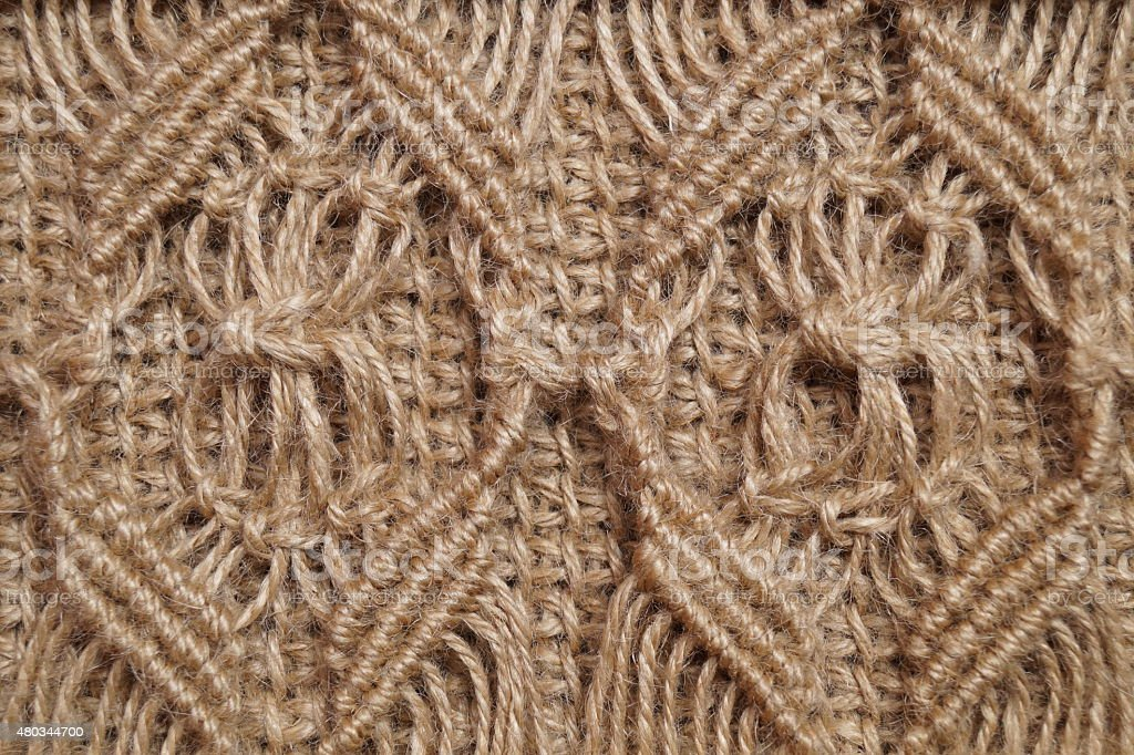 Wallpaper - macrameu, rope, jute texture stock photo