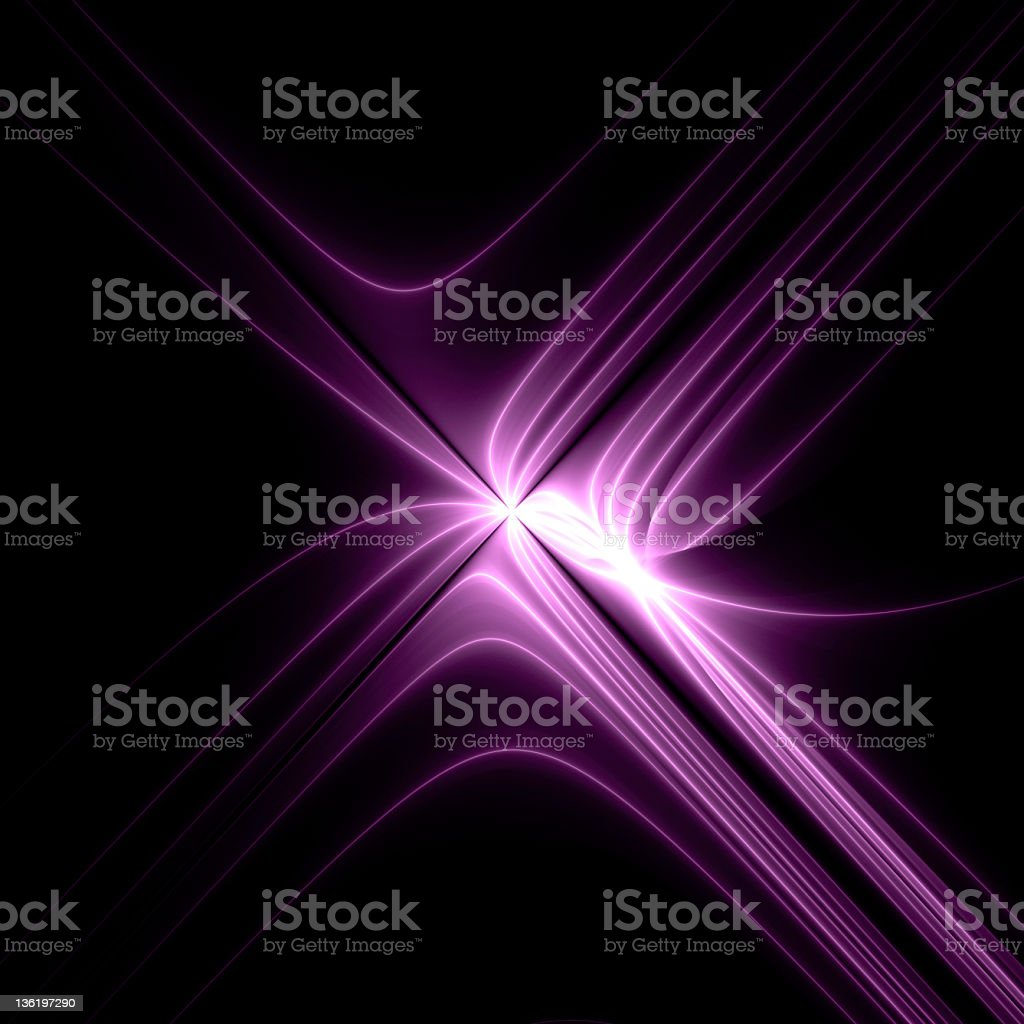 Wallpaper of purple streaks of light on black background royalty-free stock photo