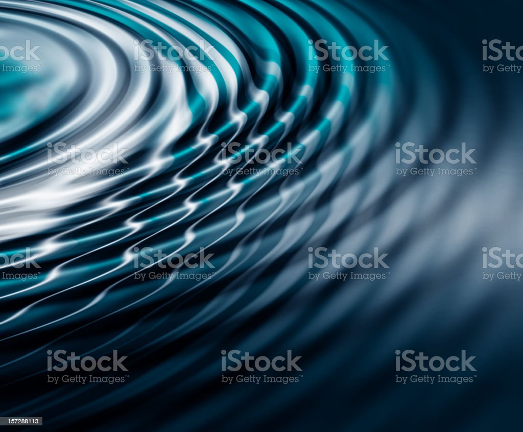 Wallpaper with Blue and white water ripples stock photo