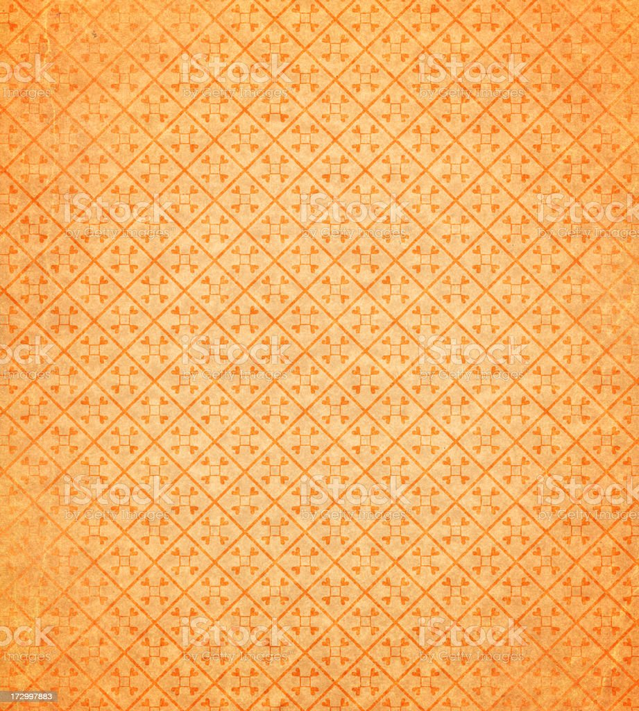 wallpaper with retro scroll pattern stock photo
